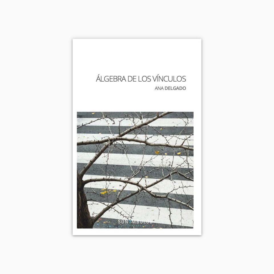Portada del libro de poesía ¬ Álgebra de los vínculos de Ana Delgado